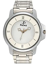 Fluence Stylish Rim Analog White Dial Men's Wrist Watch-FLS-0786-WHITE