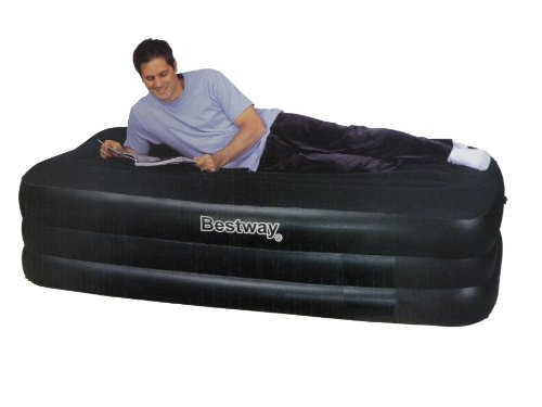 Bestway SINGLE size Comfort Quest Inflatable Airbed with Built in Electric Pump