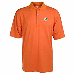 Miami Dolphins Phoenix Waffle Weave Polo by Antigua
