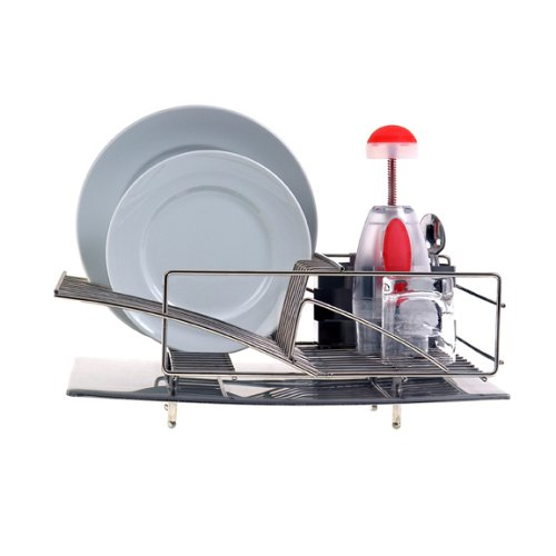 Zojila modern dish drying steel rack drainer sink kitchen storage space saver ebay - Dish racks for small spaces set ...