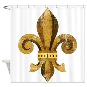 Fleur de lis shower curtain shower curtain decorative hooks - Fleur de lis shower curtain hooks ...