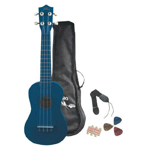 Pyle-Pro PGAKT10BL Soprano Ukulele Mini Guitar Starter Package (All Ages, Blue)