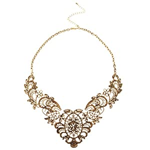 Vintage Halskette Kette Collier Metall Damenkette Party Abendkleid