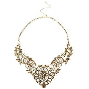 Vintage Halskette Kette Collier Metall Damenkette Party Abendkleid
