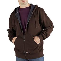 Dickies Men\'s Thermal Lined Fleece Jacket, Dark Brown, X-Large