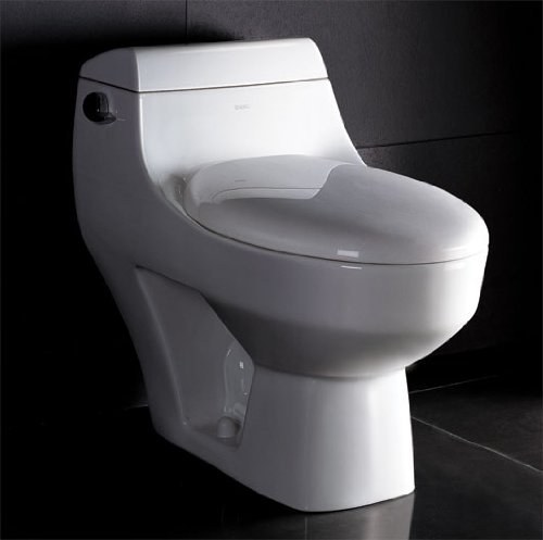 LUXExclusive Eco-Friendly Toilet EG-TB108. 28 1/2 '' x 16 '' x 25 '', White