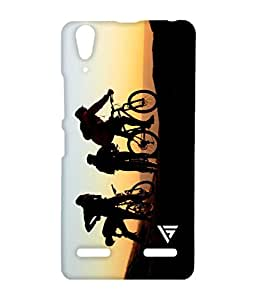 Vogueshell Vintage Bicyles Printed Symmetry PRO Series Hard Back Case for Lenovo A6000