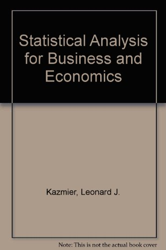 Statistical Analysis for Business and Economics PDF
