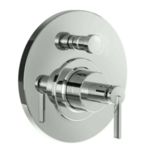 Jado 847546.144 Stoic Pressure Balance Diverter Tub and Shower Valve Trim with Cy Handle, Brushed Nickel