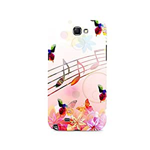 TAZindia Designer Printed Hard Back Case Cover For Samsung Galaxy Note 2