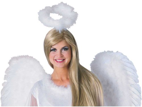 White Angel Halo Marabou Angel Costume Halo 471