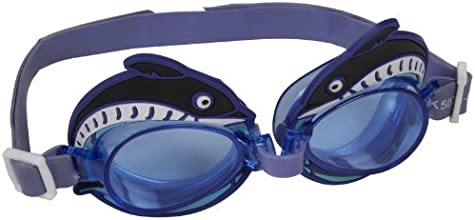 Leader Youth Dolphin Goggles Purple - Clear Lens by Leader