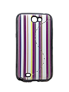 Iway Matte Leather Finish Diamond Soft Back Cover for Samsung Galaxy Note 2 N7100   Purple available at Amazon for Rs.99