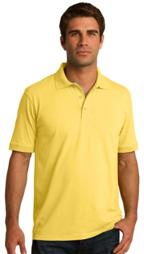 Port & Comapany Men's Big And Tall Knit Polo Jersey_Yellow_XX-Large Tall