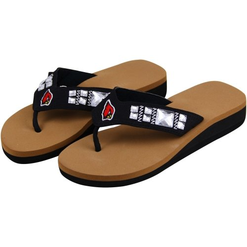Arizona Cardinals Ladies Jewel Wedge Flip Flops at Amazon.com