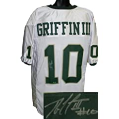 Robert Griffin III Autographed Hand Signed Baylor Bears White Custom Jersey- RG3...