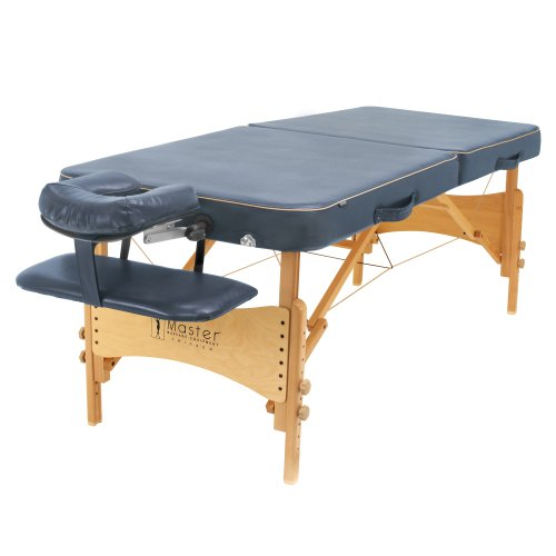 Master Massage Bermuda Portable Massage Table Package, Blue, 30 Inch