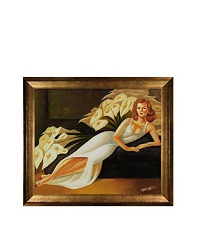 Diego Rivera Portrait Of Natasha Framed Hand-Painted Reproduction