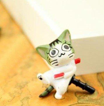 にゃんこ型 イヤホンジャック アクセサリー チーズスイートホーム「猫(チー)、ふざける」 ホコリ防止 便利