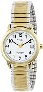 Timex Women's T2H381 Easy-Reader Two-Tone Expansion Band Watch