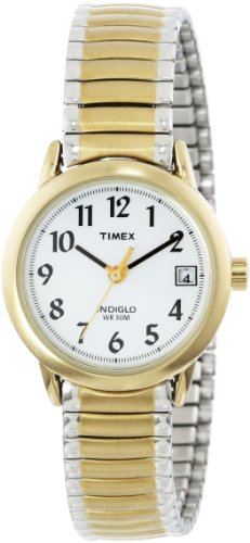 Timex Women'S T2H381 Easy-Reader Two-Tone Expansion Band Watch front-934259