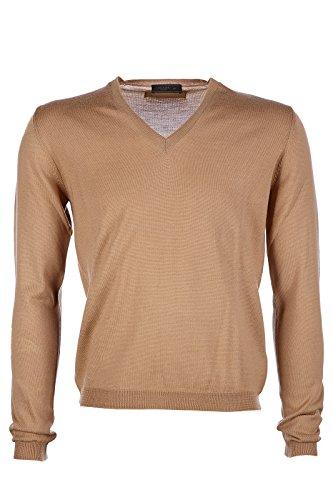 Prada maglione maglia uomo collo a v marrone EU 50 (UK 40) UMN448 507 F0040