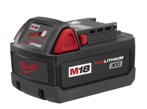 41K7WvN5N9L Milwaukee 48 11 1828 M18 XC RED LITHIUM 18 Volt Lithium ion Cordless Tool Battery