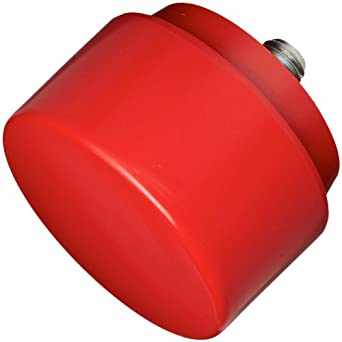 """Nupla 15203 Medium Face QC Replaceable Tip for Impax Dead Blow and Quick Change Hammers, Red, 2"""" Diameter"""
