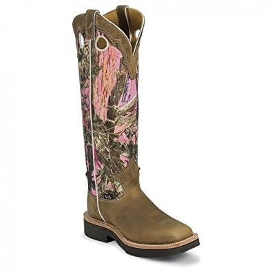 Buy Justin Ladies Rugged Camo Snake Boot Square Toe by Justin
