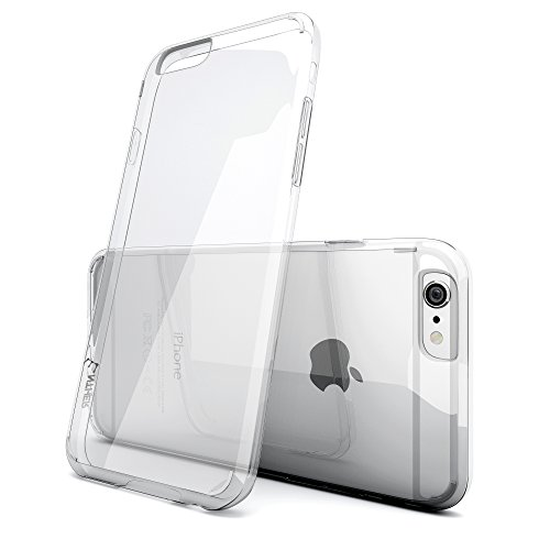 iPhone 6 Plus Case, Enther® [Ultimate Cushion Plus] iPhone 6 Plus Clear Slim Scratch / Dust Proof Hybrid Transparent Case with Shock Absorb Trim Bumper - Authentic Retail Packaging - for iPhone 6 Plus 5.5 Inch