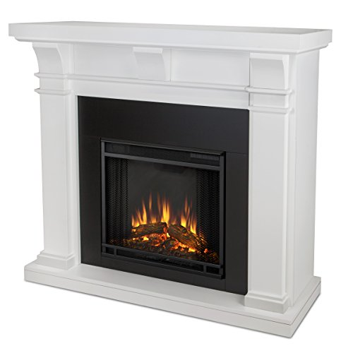 Real Flame 7730-X-W Porter Electric Fireplace, White