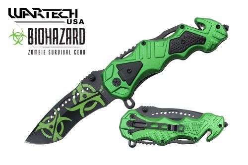 Wartech Tactical Zombie Spring Assisted Rescue Knife