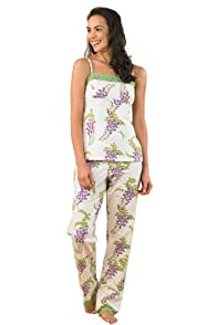BedHead Wisteria Stretch Cami and Pant Made in USA PJ Set
