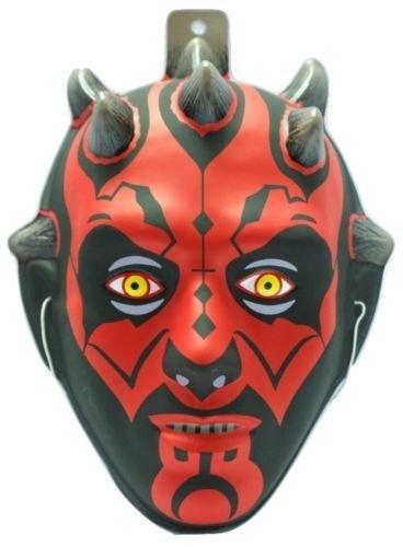 Darth Maul Star Wars Plastic Mask Black Red Halloween Child Costume Accessory (Darth Maul Face Paint)
