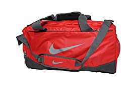 Nike Team Training Duffel Bag, Light Crimson/Dark Grey/Wolf Grey, Small