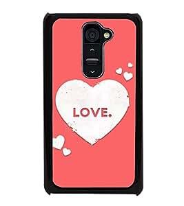 Love Hearts 2D Hard Polycarbonate Designer Back Case Cover for LG G2 :: LG G2 D800 D802 D801 D802TA D803 VS980 LS980