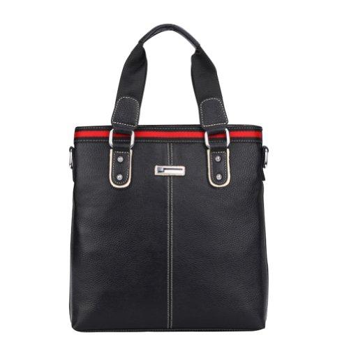 Men's Vintnage Top Quality Cowhide Leather Leisure Business Brief Shoulder Messager Bag Handbag Briefcase