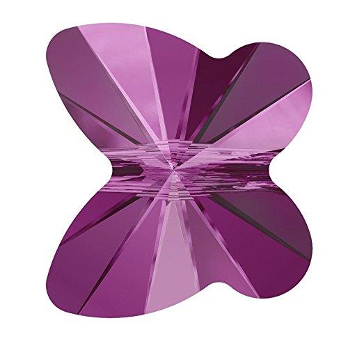 Swarovski farfalla, 6 mm, confezione da 1, colore: fucsia