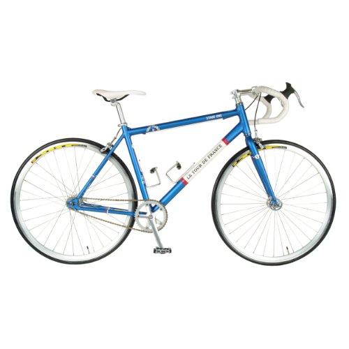 Tour de FranceStage One Vintage Fixie Bike, 700c Wheels, Men's Bike, Blue, 45 cm Frame, 51 cm Frame, 56 cm Frame 0