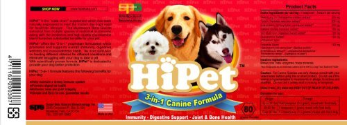 Hipet Canine 3 in 1 Formula - All Natural Mushroom Extract Multi-functional Beta Glucan Supplement for Dogs