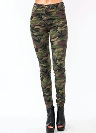 Luxury Womens Skinny Camo Jeans Military Low Rise Camouflage Hotpants Army