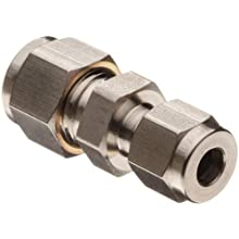 Parker A-Lok 2RU1-316 316 Stainless Steel Compression Tube Fitting, Reducing Union, Tube OD x Tube OD