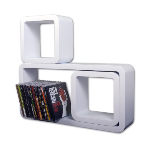 Floating Cube Shelves