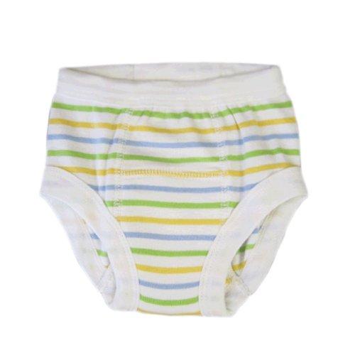 Organic Training Pant - Unisex Stripe 2-4 Years Underpant front-615841