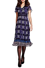 Per Una Animal Print Midi Dress [T62-6646J-S]