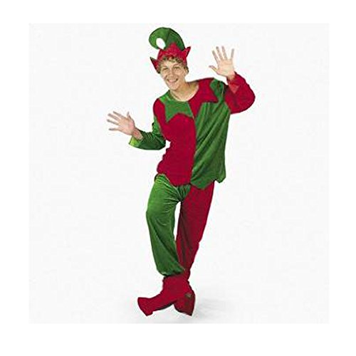 Velour Elf Adult Men's Costume