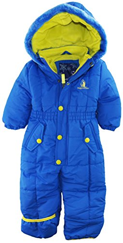 Rugged Bear Baby Boys Infant Classic One Piece Solid Snow Pram, Royal 24M front-1075868