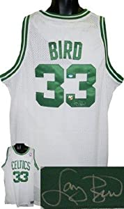Signed Larry Bird Jersey - White Adidas Swingman Hologram - Autographed NBA Jerseys by Sports Memorabilia