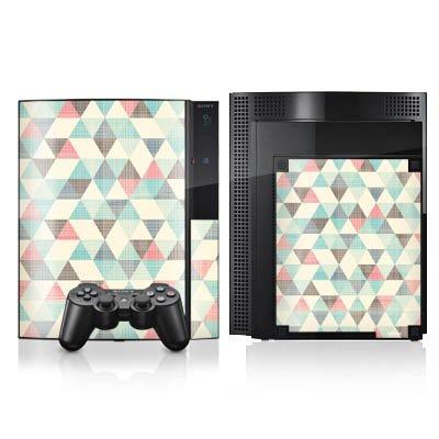 sony-playstation-3-case-skin-sticker-aus-vinyl-folie-aufkleber-dreiecke-vintage-muster-pastell