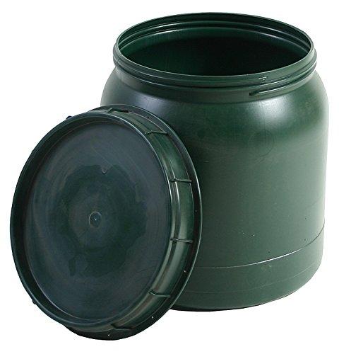 Weithals-Fass grün 40 Liter mit Deckel Nässe-Schutz Transport-Faß Fische Camping Hergestellt für BAUPROFI